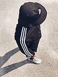 Олімпійка чоловіча в стилі Adidas Round чорна!, фото 4