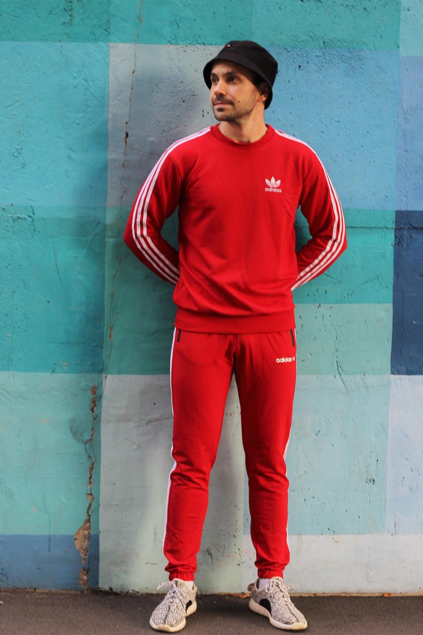 Спортивный костюм в стиле Adidas Round красный!