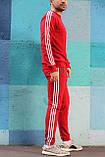 Спортивний костюм в стилі Adidas Round червоний!, фото 2