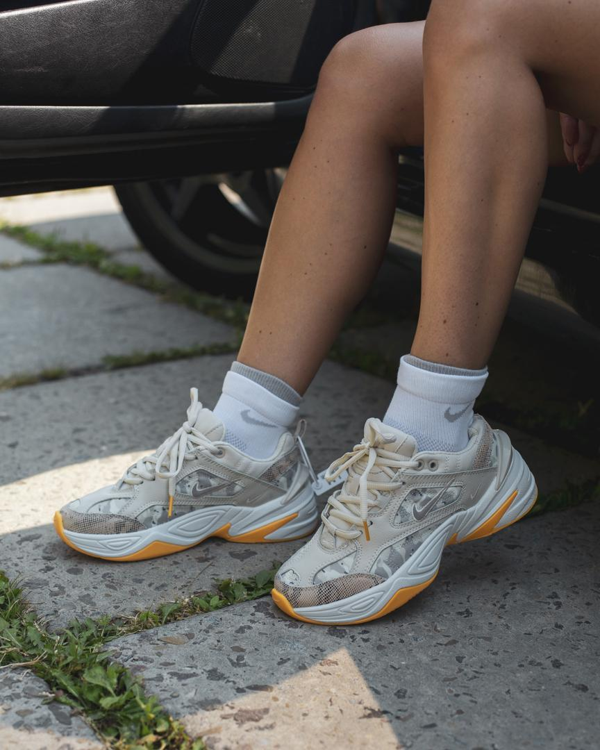 """Кроссовки женские в стиле Nike Air M2K Tekno """"Beige"""""""