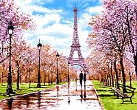 """Картина раскраска по номерам """"Апрель в Париже"""" на холсте 40Х50 см. Babylon VP1198"""