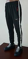 Спортивные штаны мужские с манжетами, трикотаж с полосой Размер 52, 54