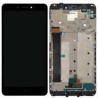 Дисплей Xiaomi Redmi Note 4 Helio X20 MediaTek с сенсором (тачскрином) и рамкой черный
