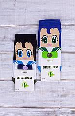 Жіночі носки шкарпетки стрейчеві Montebello з лялькою з смайликами 35-40 12 шт в уп мікс 2 кольорів