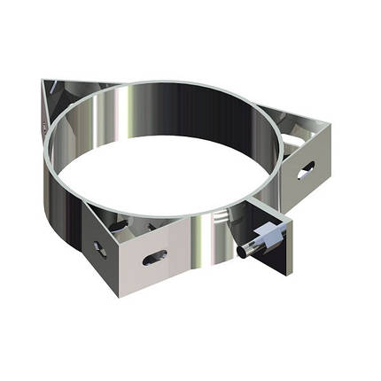 Фабрика ZIG Кольцо для дымохода нержавейка D-130 мм толщина 0,6 мм, фото 2