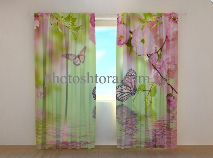 "Фото шторы ""Бабочки весной"" 250 х 260 см"