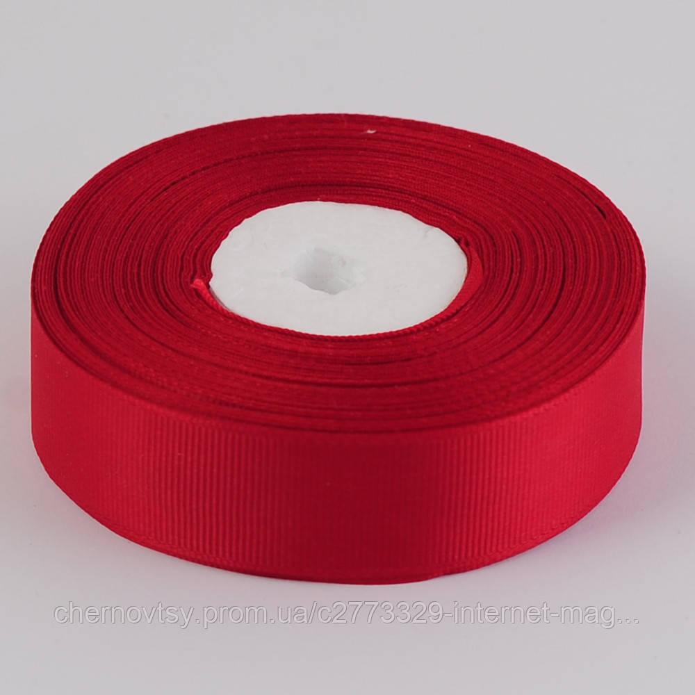 Лента репс 2 см, 33 м, Темно-красный ТВ