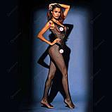 """Великолепный черный бодик комбез комбидресс Bodystocking Бодистокинг """"Пегас"""" 16674, фото 2"""