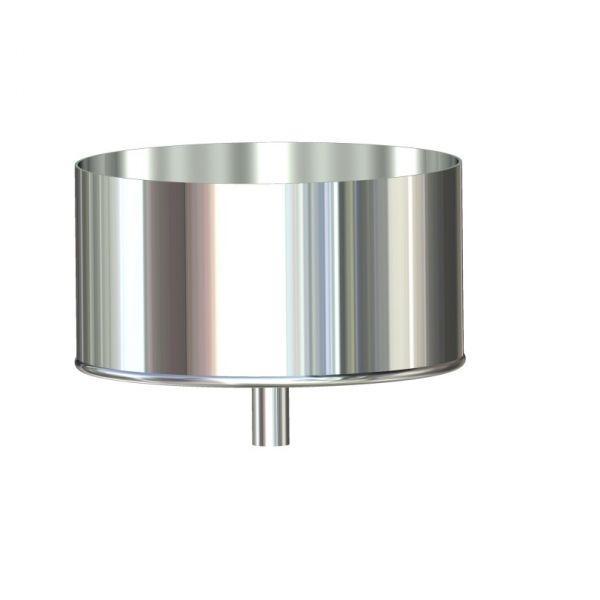 Фабрика ZIG Лейка для дымохода нержавейка D-100 мм толщина 0,6 мм