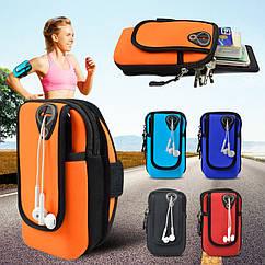 """Чохол-сумка неопренова для телефону (5.0"""" / 6.0"""") на руку / передпліччя (вело / біг / туризм / рибалка)"""