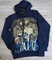 Свитер оптом рисунок Волк светится в темноте для мальчика от 8 до 15 лет., фото 1