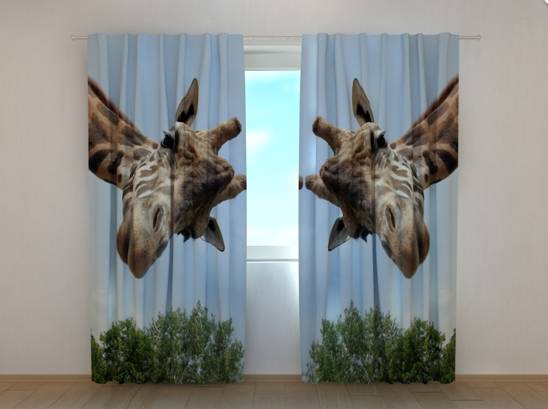 """Фото штори """"Жираф"""" 250 х 260 см"""