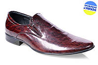 Мужские туфли классика mida 11207шок весенние , фото 1