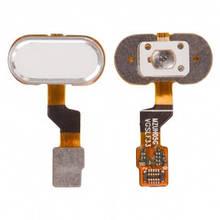 Шлейф Meizu M3s, M3s mini, U10 с кнопкой Home белая