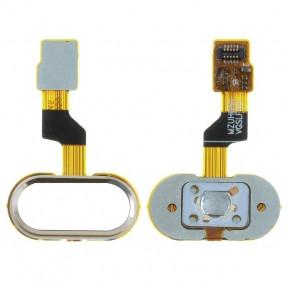 Шлейф Meizu M3s Y685, M3s mini с кнопкой Home золотая