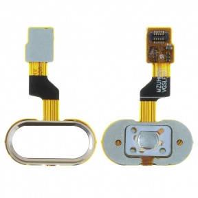 Шлейф Meizu M3s Y685, M3s mini с кнопкой Home золотая, фото 2