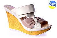 Женские туфли шлепанцы venata c-08беж.коф летние , фото 1
