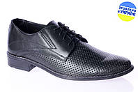 Мужские туфли классика mida 13760чер летние , фото 1