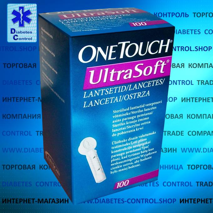 Ланцеты универсальные One Touch UltraSoft / Ван Тач УльтраСофт 100 шт.
