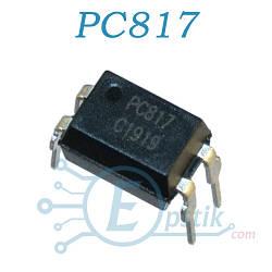 PC817, оптопара транзисторная с транзисторным выходом, DIP4