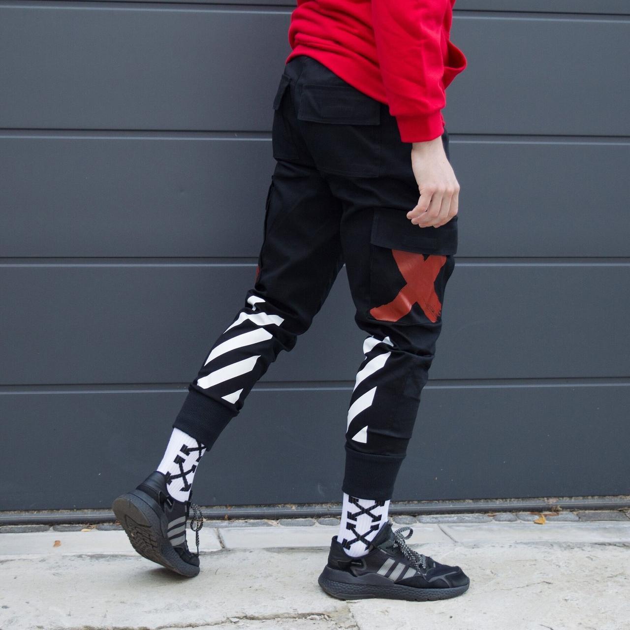 Карго штани Off-White чоловічі чорні, S