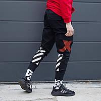 Карго штаны Off-White мужские черные, S, фото 1