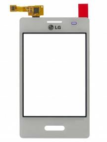 Сенсор (тачскрин) LG E425 Optimus L3 2 и рамкой белый, фото 2