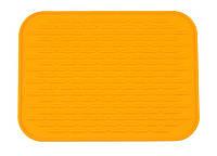 Силиконовый коврик для сушки посуды 22Х16 см, оранжевый, Сушки и органайзеры для посуды, Сушіння і органайзери для посуду, Силіконовий килимок для