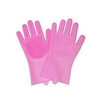 Силиконовые перчатки для мытья посуды, Розовый, Аксессуары для мытья посуды, Аксесуари для миття посуду, Силіконові рукавички для миття посуду,