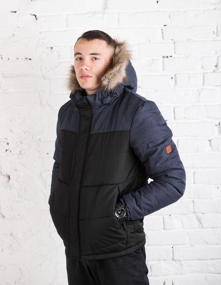 "Куртка Pobedov Winter Jacket ""Levyy bereg"" BLACK-NAVY"