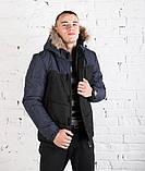 """Куртка Pobedov Winter Jacket """"Levyy bereg"""" BLACK-NAVY, фото 6"""