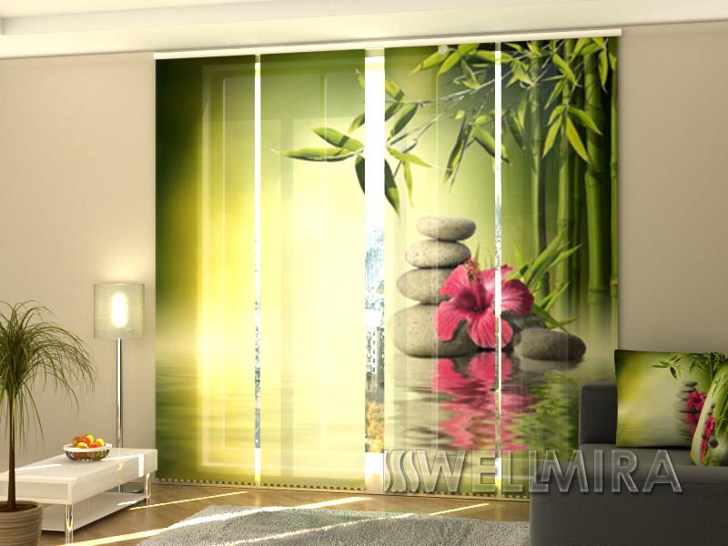 """Панельные Фото шторы """"Листья бамбука"""" 240 х 240 см"""