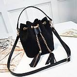 Ультрамодна жіноча сумочка мішечок YA-2, фото 2