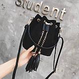 Ультрамодна жіноча сумочка мішечок YA-2, фото 3
