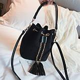 Ультрамодна жіноча сумочка мішечок YA-2, фото 4