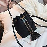 Ультрамодна жіноча сумочка мішечок YA-2, фото 5