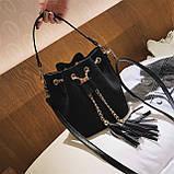 Ультрамодна жіноча сумочка мішечок YA-2, фото 7
