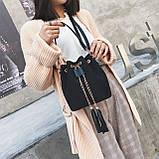 Ультрамодна жіноча сумочка мішечок YA-2, фото 10