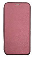 Чехол книжка для Xiaomi Redmi 8 (Wine red) + Стекло !!!