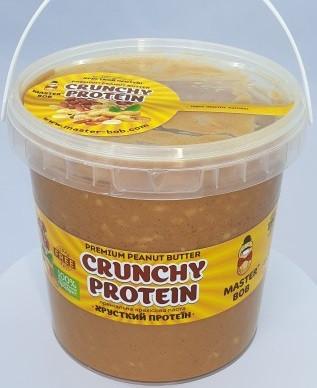 Арахисовая паста Master Bob - Crunchy Peanut Butter с морской солью (1000 грамм) кранч