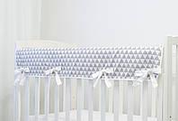 """Защита на верх бортика кроватки из хлопка """"Скандинавские холмики"""""""