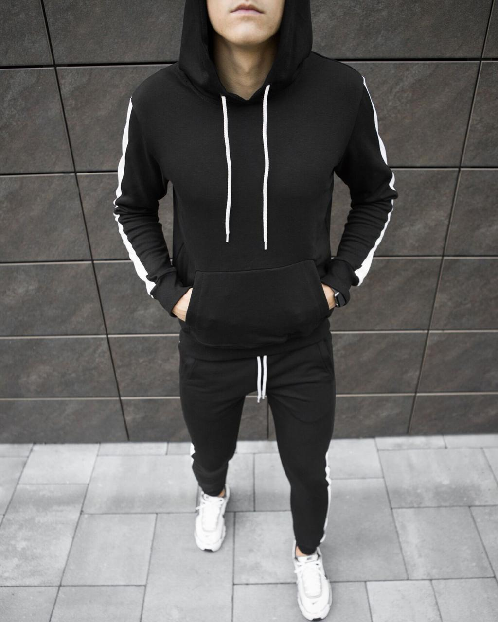 "Спортивный костюм Pobedov ""Lampas "" Black-white, S"