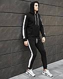 "Спортивный костюм Pobedov ""Lampas "" Black-white, S, фото 4"