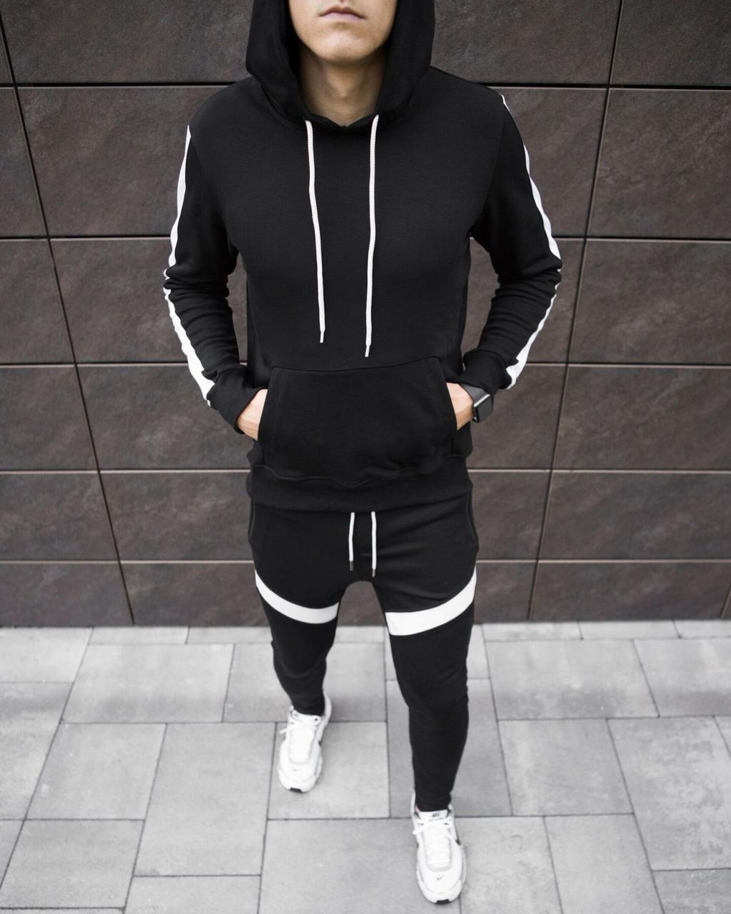 "Спортивний костюм Pobedov ""Lampas"" Black-white, S"