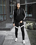 "Спортивний костюм Pobedov ""Lampas"" Black-white, S, фото 2"