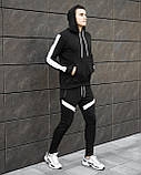 "Спортивний костюм Pobedov ""Lampas"" Black-white, S, фото 4"