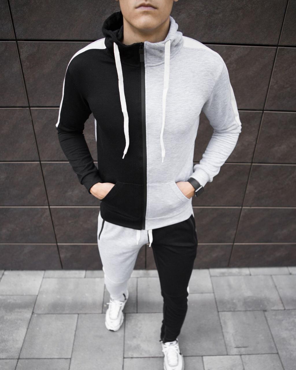 "Спортивный костюм Pobedov ""Segmentation"" Black-Grey, S"