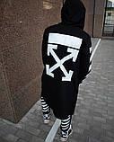 Мантия унисекс в стиле Off white Cross чёрная, фото 2