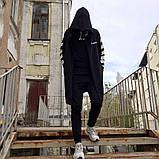 Мантия унисекс в стиле Off white Cross чёрная, фото 6