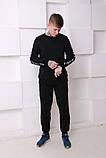 Штаны чёрные с белым лампасом Ellesse, фото 2